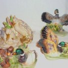 Waterfowl Poly Figurines by Ks Collection Lot of Four Home Decor
