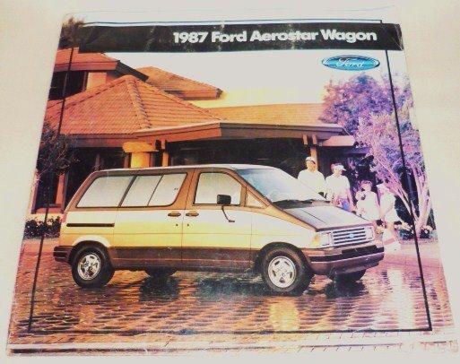 Brochure Pamphlet for a 1987 Ford Aerostar Wagon