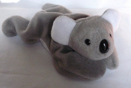 Ty Beanie Baby Mel Koala Bear Gray and White Original 1996