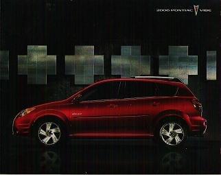 2006 Pontiac Vibe gt Brochure - Original and Exc Cond