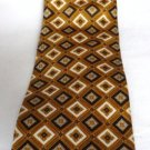 Roundtree and Yorke Silk Tie Black White Gold Handmade