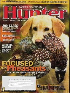 North American Hunter September 2008 Whitetail Deer Outfox Pheasants