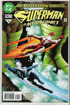 Superman in Action Comics 744 DC Comic Book 1998 Exc Cond