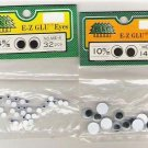 2 packages Bel-Tree Corp E Z Glu Eyes 14 pcs 10 mm And 32 pcs 4mm New in Package