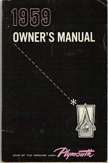 Plymouth Owners Manual and Air Conditioning Brochure 1959 Vehicles