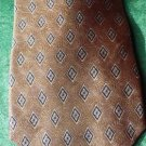 Roundtree and Yorke Silk Tie Diamond and Swirls Handmade