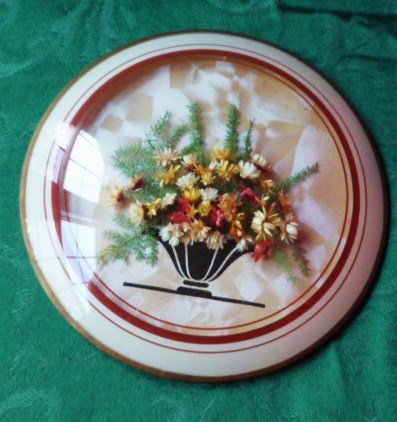 Deco Round Domed Bubble Glass - Dried Flowers Wall Decor Very Colorful!