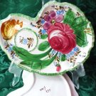 Vintage Dessert Plates Handpainted Floral Design w Cup Area