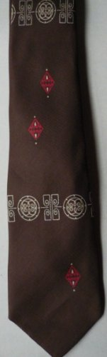Vintage Brown Resilio Silk Tie Made for Cannons Wellsville NY