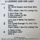 Rare 8 Track - A Legend And His Lady - Eddy Arnold 1980