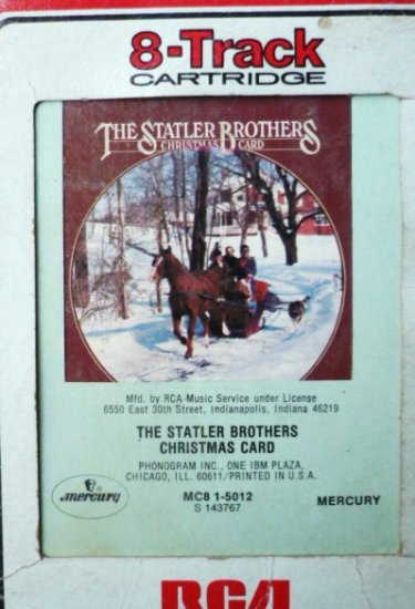 Christmas Card 8 Track by The Statler Brothers Rare 1978 One Owner