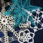 Lot of 4 Hand Crocheted Doily Holiday Snowflake Decor