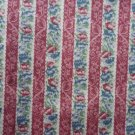 Victorian Floral Pattern Material Fabric 73 x 34 inches Rose White Blue