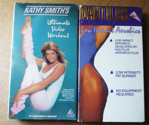 2 Videos Nautilus Plus Aerobics Low Impacts and Kathy Smiths Ultimate Workout