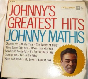 Johnnys Greatest Hits lp - Johnny Mathis 1958 Columbia cl 1133