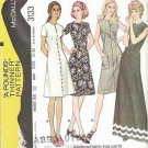 Uncut McCalls Easy Pattern 3133 Ladies Sz 10 Dress 1972
