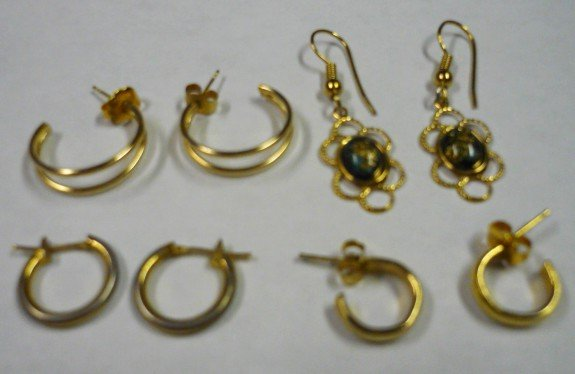 Jcm 14 kt Earrings And Monet Plus Two More Pairs of Earrings