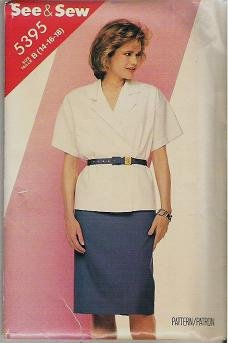 Butterick See and Sew Uncut Pattern 5395 Top and Skirt  Sizes 14 16 18