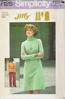 Simplicity Uncut Pattern 7125 Pants Top Dress 1975 Size 12