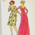 Uncut Simplicity Pattern 6563 Size 12 Long or Short Dress 1974