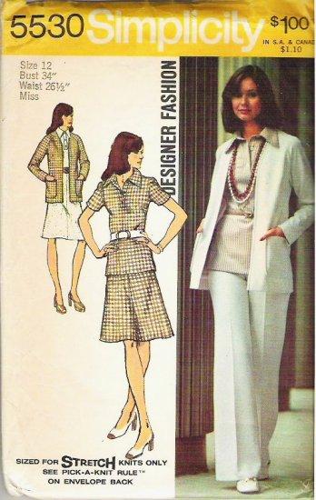 Simplicity Pattern 5530 Miss - Size 12 Skirt Pants Blouse Cardigan