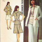 Simplicity Pattern 5530 Miss 1973 - Size 12 Skirt Pants Blouse Cardigan