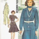 Uncut 1973 Simplicity Pattern 6091 Sz 12 Dress Skirt and Pants Suit