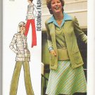 Uncut 1974 Simplicity Pattern 6516 Sz 12 Cardigan Top Skirt and Pants