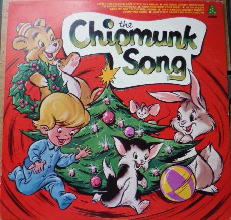 The Chipmunk Song lp Diplomat Records sx1723 by the Pixies Holiday Songs