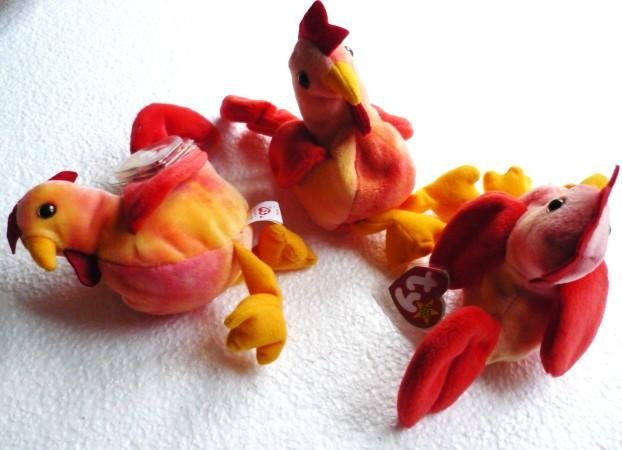 Ty Beanie Baby Strut the Multi Colored Rooster Retired 1996