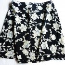 B Bronson Sexy Skirt Black and Cream Floral Pattern Junior Size 13