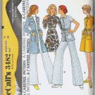McCalls 1973 Uncut Pattern 3482 Sz 12 Coat Dress or Top and Pants