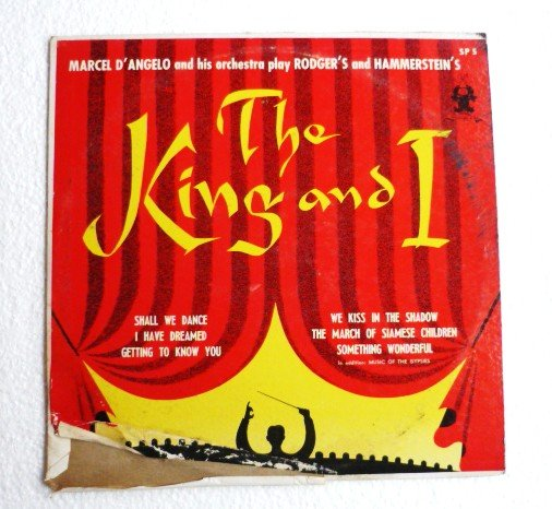 The King and I lp Rogers - Hammerstein by Marcel Dangelo sp5 Parade