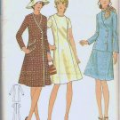 Uncut Butterick Pattern 6137 Dress and Coat or Jacket Vintage Ladies Size 12 1/2