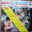 Sound Stage Hi Fi Music from Hollywood Columbia lp cl612 - 1950s?