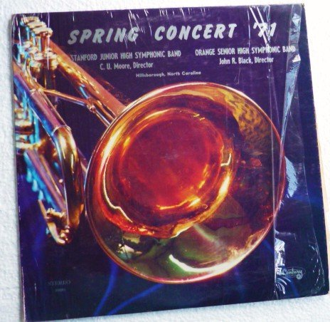 Stanford Jr High Orange Senior High in N Carolina Spring Concert 71 lp 39885