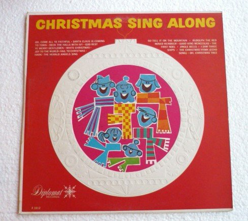 Christmas Sing Along lp Diplomat x1012 Synthetic Plastics Rare
