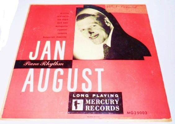Jan August Piano Rhythm lp mg 25003 - 10 Inch Record Pre 1950s