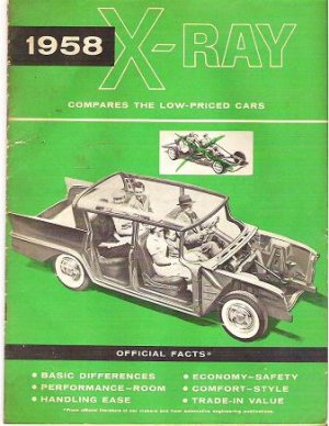 1958 Amc X-Ray Rambler Comparative Official Facts Book Original