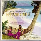 Hawaii Calls 2 Records in Gatefold Cover Webley Edwards with Al Kealoha 45 rpm