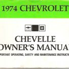 Original 1974 Chevrolet Chevelle Owners Manual