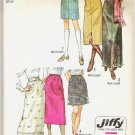 1970 Uncut Simplicity Jiffy Pattern 9099 Three Skirt Lengths mini midi maxi