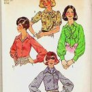 Simplicity Uncut Pattern 6228 Miss Blouse and Scarf 1974 Size 12
