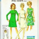 1968 Simplicity Pattern 8049 Basic Dress Sz 12 Miss Petite