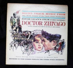 Doctor Zhivago Sound Track Music 1965 lp sf24800