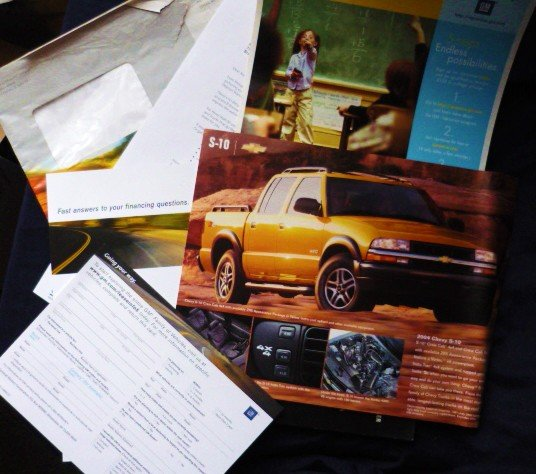 2004 Chevy S-10 Original Owners Paperwork and Documentation
