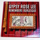 Gypsy Rose Lee Remembers Burlesque 1962 lp C G 1