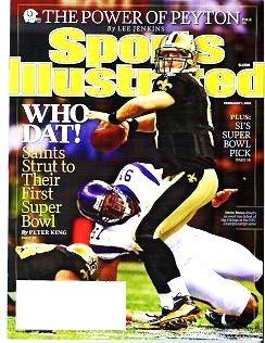 Sports Illustrated February 1 2010 - Unread - Peyton Saints First Super Bowl Drew Breese