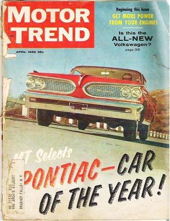 1959 Original Motor Trend Magazine April