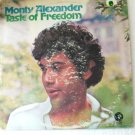 Monty Alexander Taste of Freedom Original lp se 4736 Special dj copy